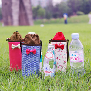Petite fabric bottle bag